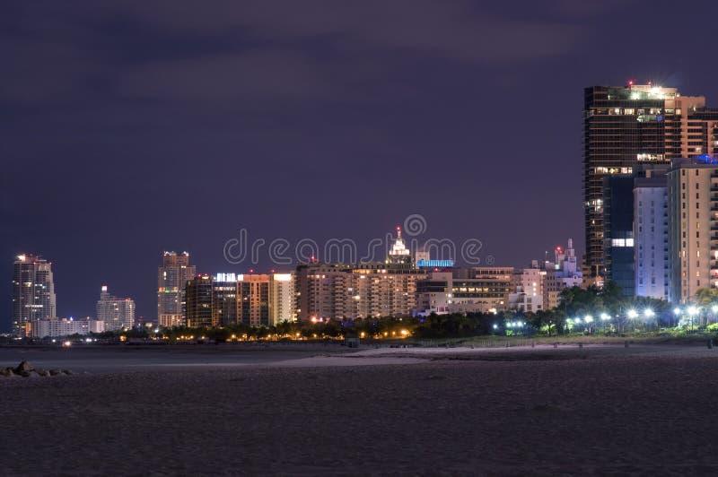 plażowy Miami nocy południe góruje fotografia royalty free