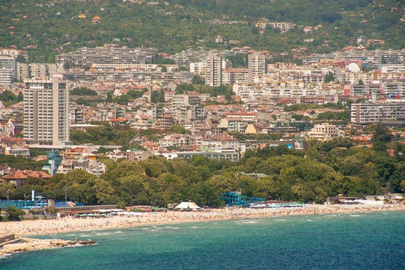 Plażowy miasteczko Varna zdjęcie royalty free