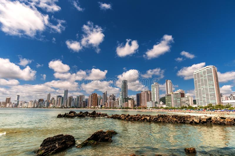 Plażowy miasto fotografia stock