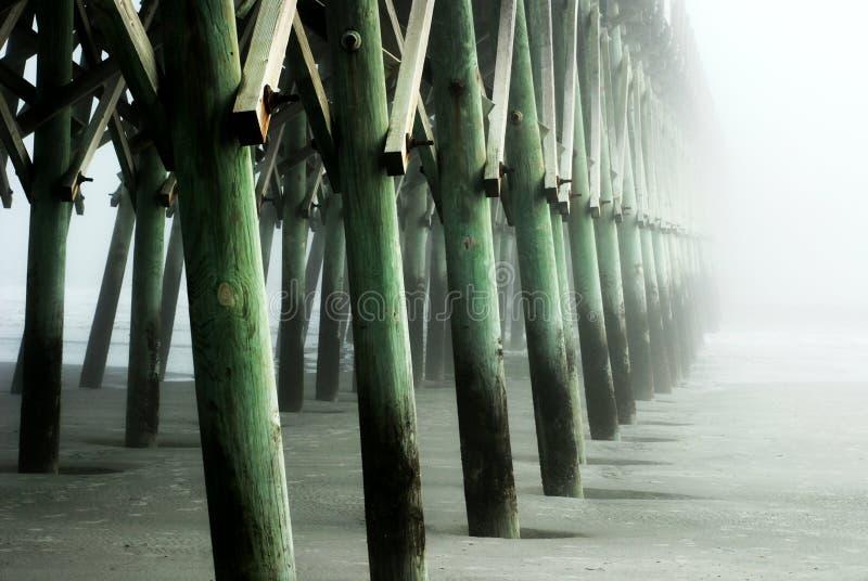 plażowy molo fotografia royalty free