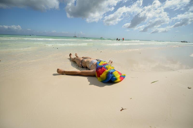 plażowy morze karaibskie fotografia stock