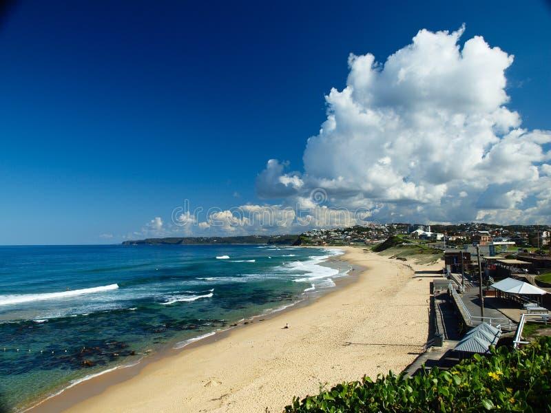 plażowy nabrzeżny Newcastle obraz stock