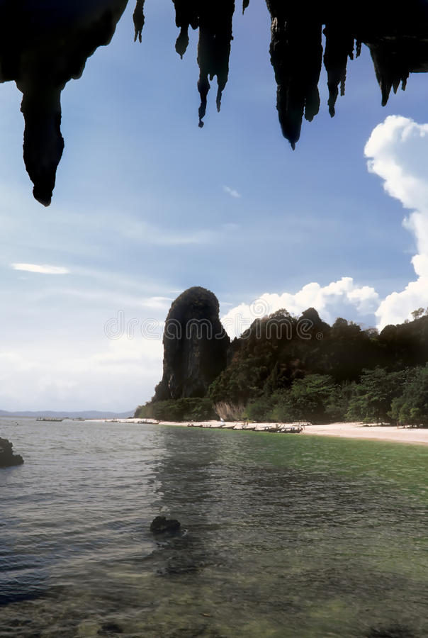 plażowy nang phra Thailand tham fotografia stock