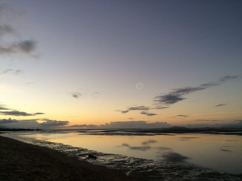 Plażowy oceanu zmierzch obrazy royalty free