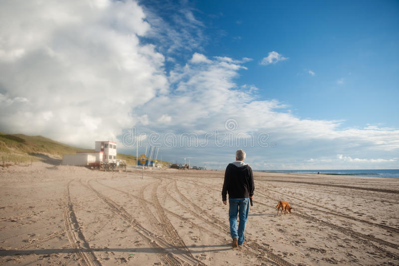 plażowy odprowadzenie fotografia royalty free