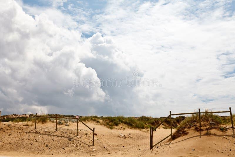 plażowy płotowy guincho fotografia stock