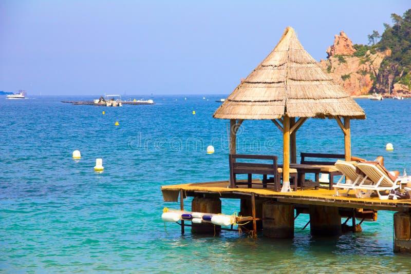 plażowy pawilon fotografia royalty free