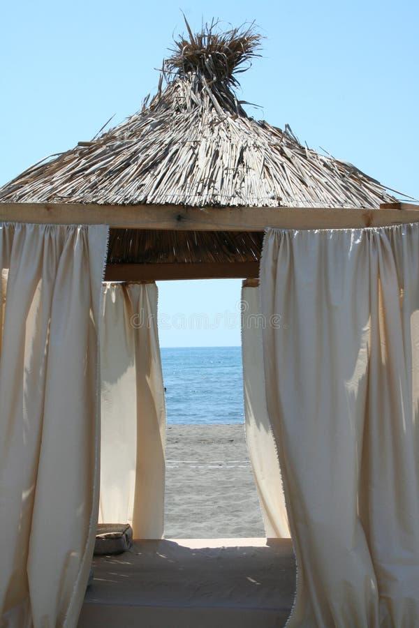 plażowy pawilon obrazy stock