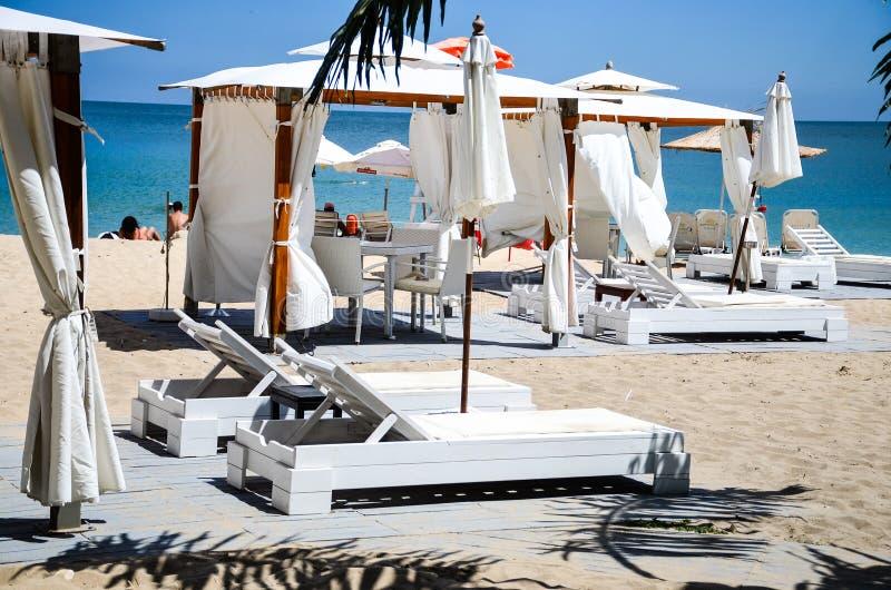 Plażowy pawilon zdjęcie royalty free