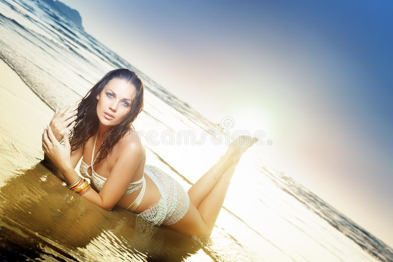 plażowy piękno obraz royalty free