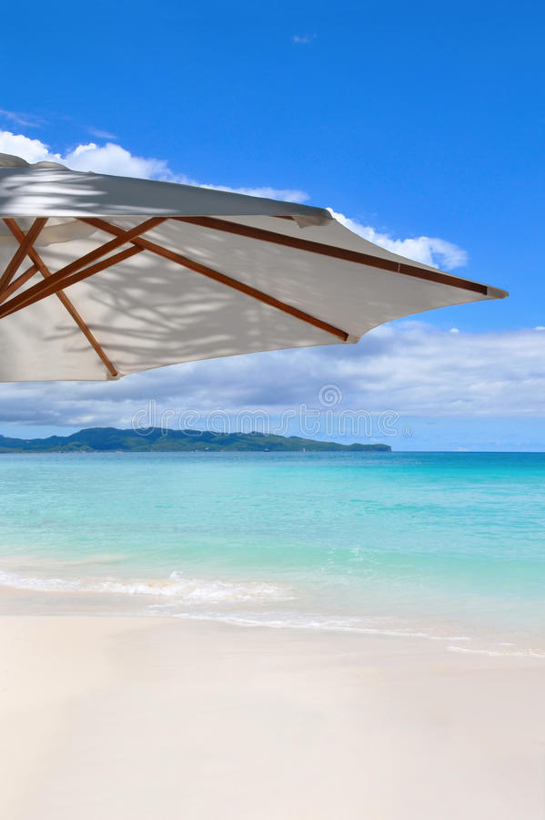 plażowy piękny Boracay piaska biel obrazy stock