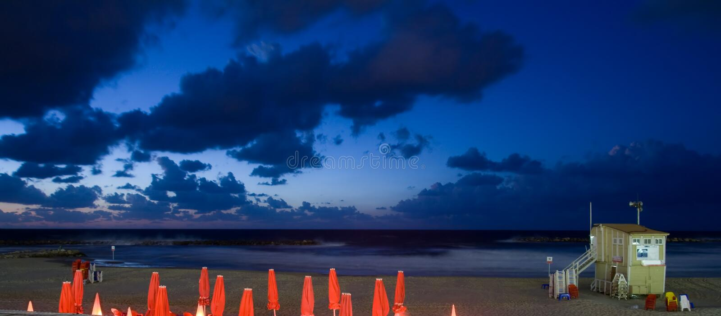 plażowy piękny krajobrazowy zmierzch zdjęcie stock