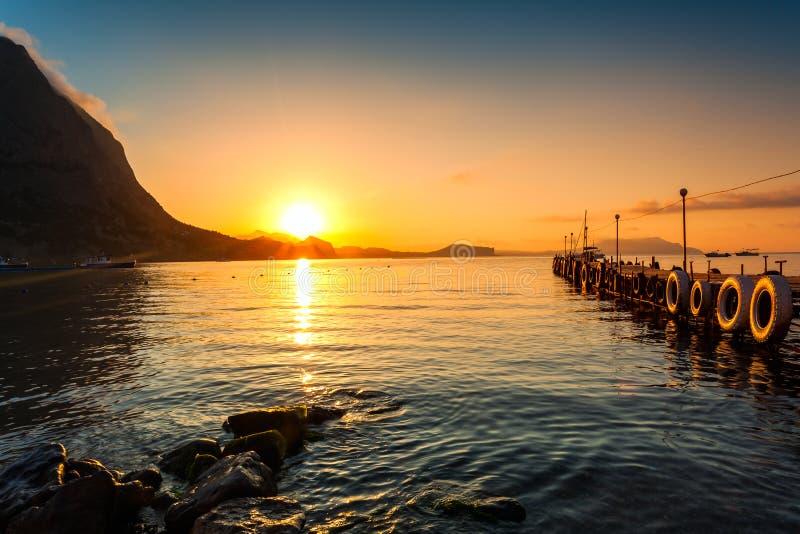 plażowy piękny wschód słońca obraz royalty free