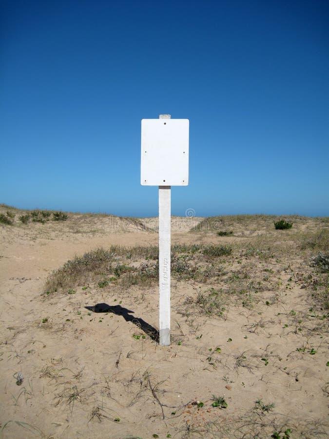 plażowy puste miejsce znak obraz stock