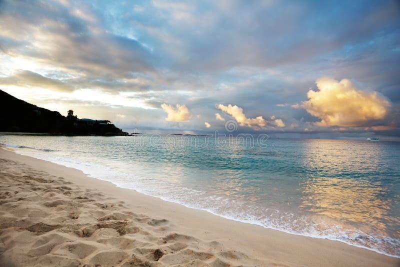 plażowy ranek gwiazdy wschód słońca obraz stock