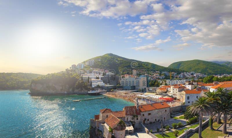 Plażowy Ricardova glava Budva Montenegro zdjęcie royalty free