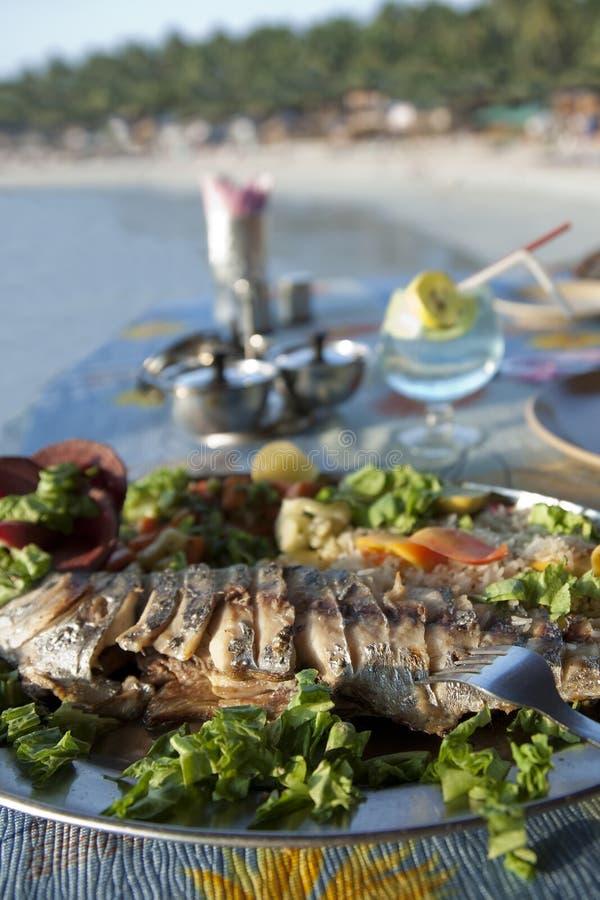 plażowy rybi goa ind królewiątka palolem obrazy stock