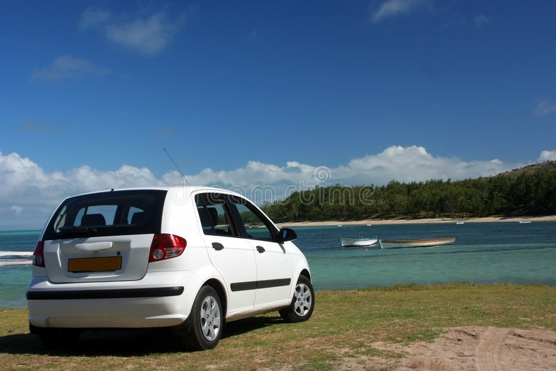 plażowy samochód zdjęcie stock