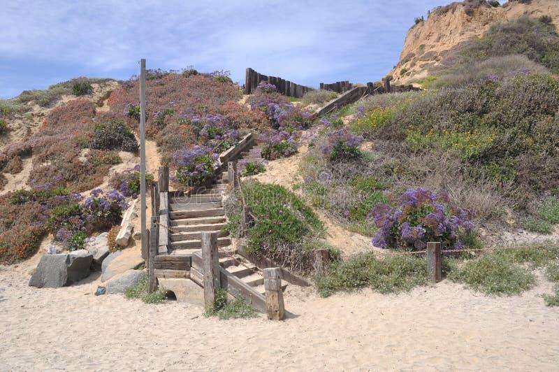 plażowy schody zdjęcie stock