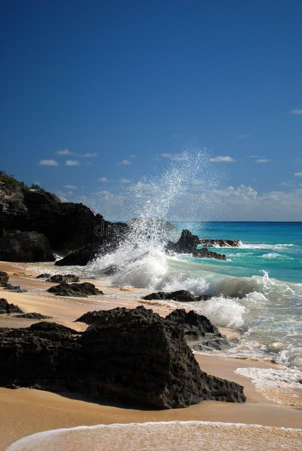 plażowy skalisty obrazy stock