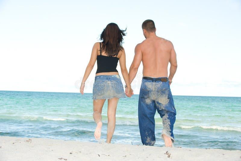 plażowy spacer zdjęcia royalty free