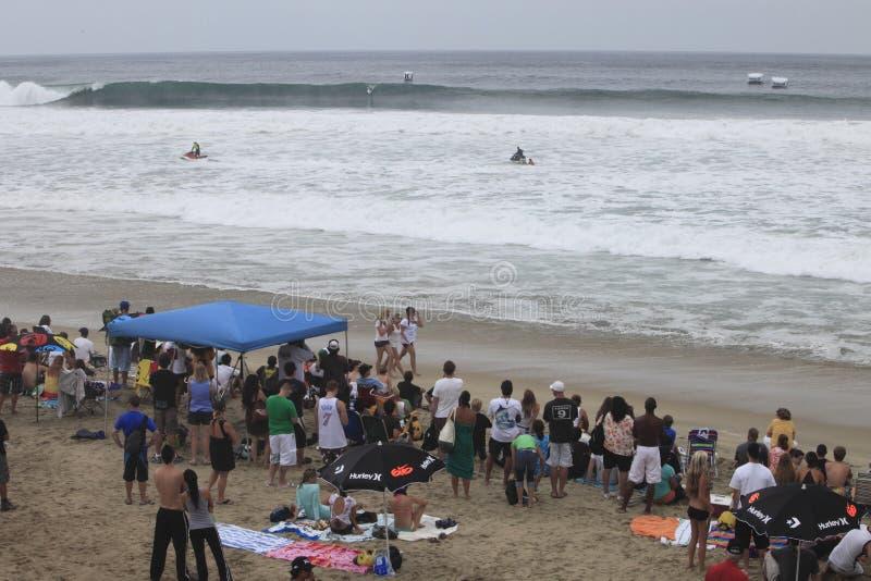 plażowy tłum zdjęcie stock