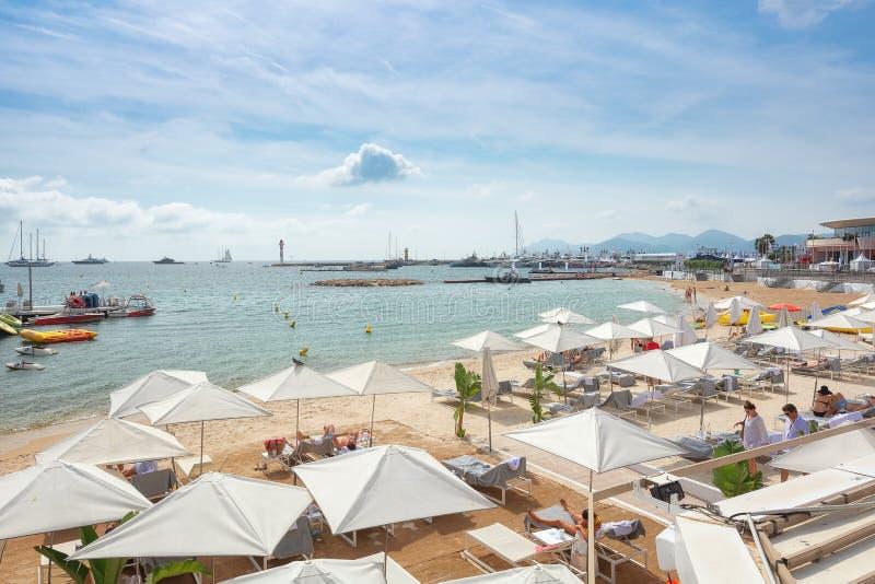 Plażowy tarasowy należenie Francuski restauracyjny losu angeles Plage Był zdjęcie royalty free