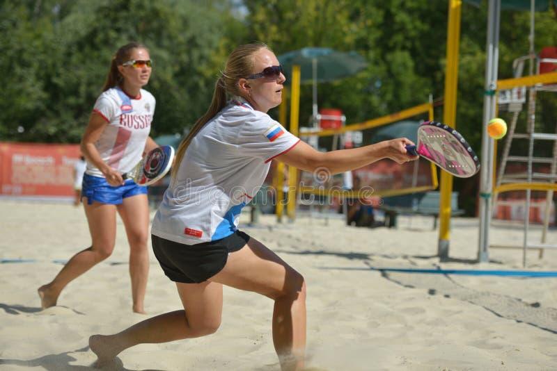 Plażowy Tenisowy świat drużyny mistrzostwo 2014 obraz stock