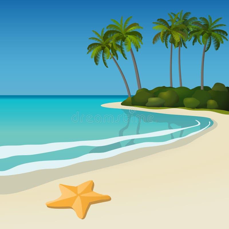 plażowy tropikalny royalty ilustracja