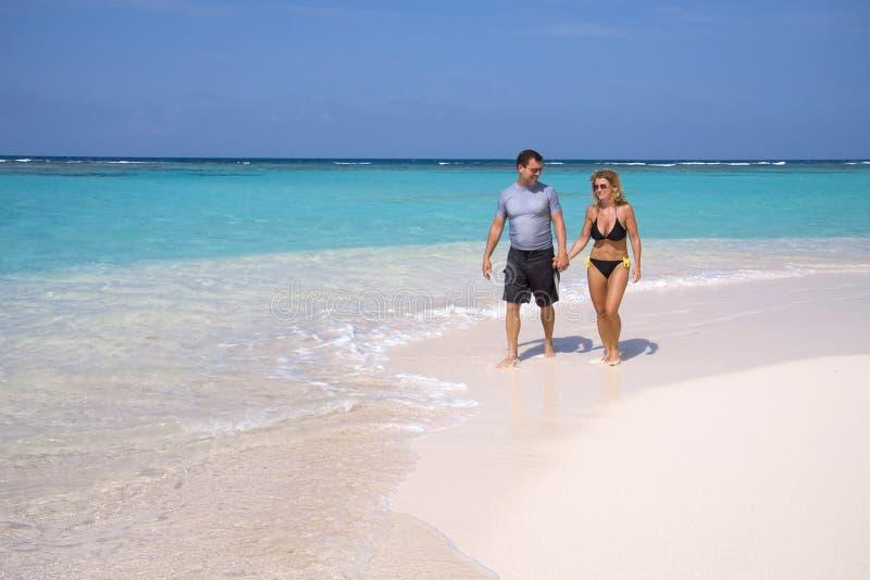 plażowy tropikalny spacer obraz stock