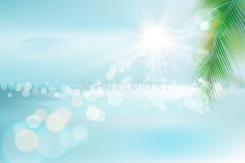 plażowy tropikalny widok również zwrócić corel ilustracji wektora ilustracja wektor