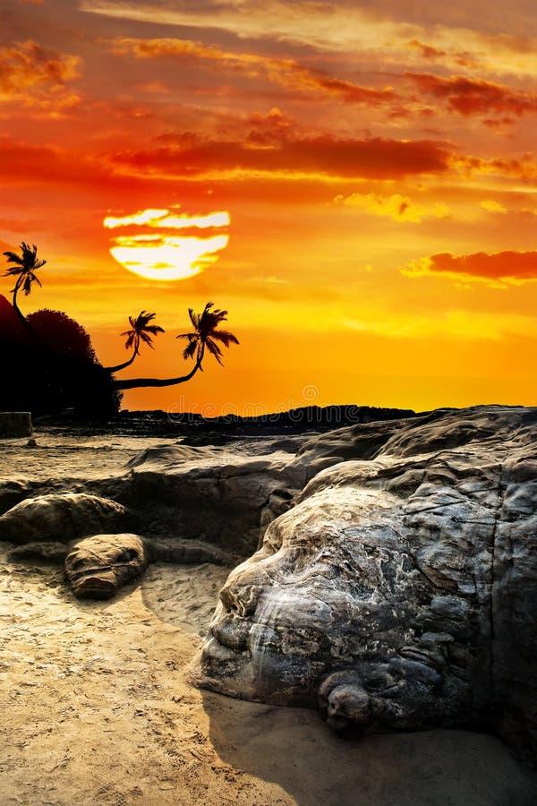 plażowy twarzy goa shiva vagator zdjęcia royalty free