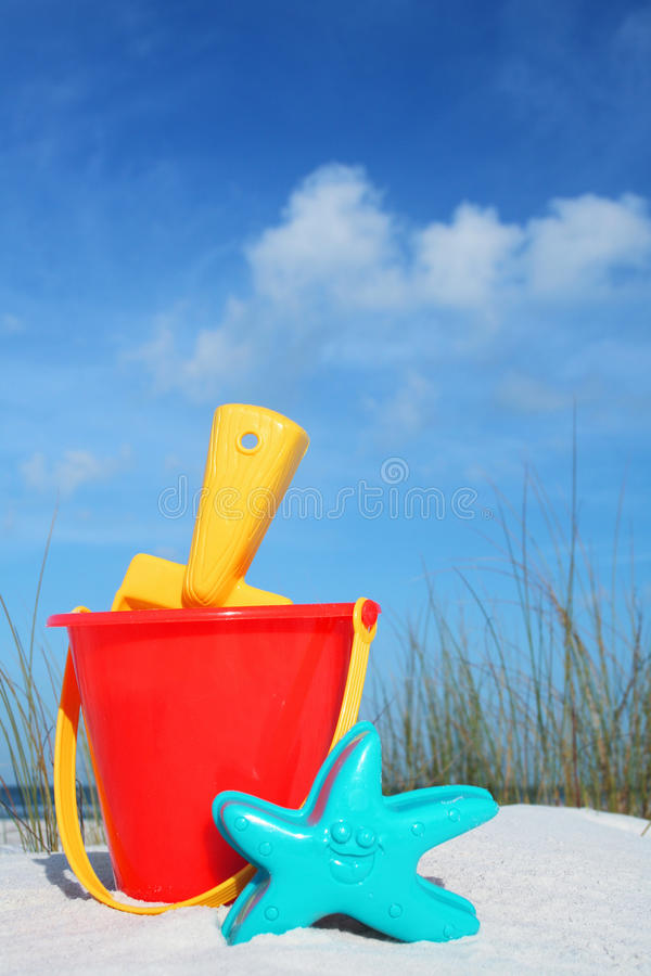 plażowy wiadro zdjęcia royalty free