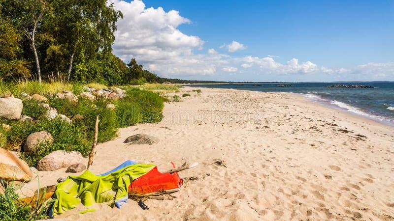 Plażowy widok blisko Ystad obrazy stock