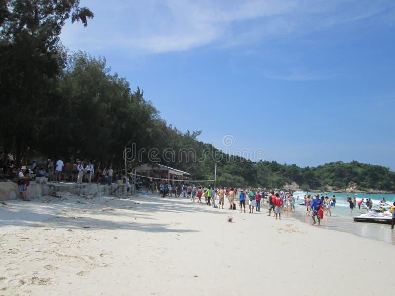 Plażowy widok w Thailand patttaya fotografia royalty free