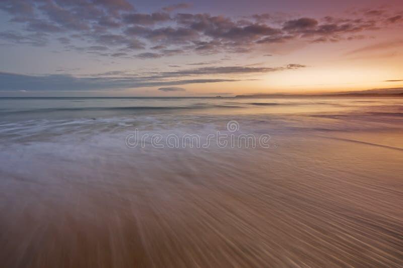 plażowy wschód słońca zdjęcie stock