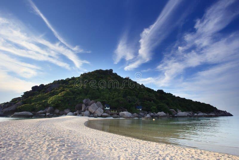 plażowy wyspy góry morze zdjęcia royalty free