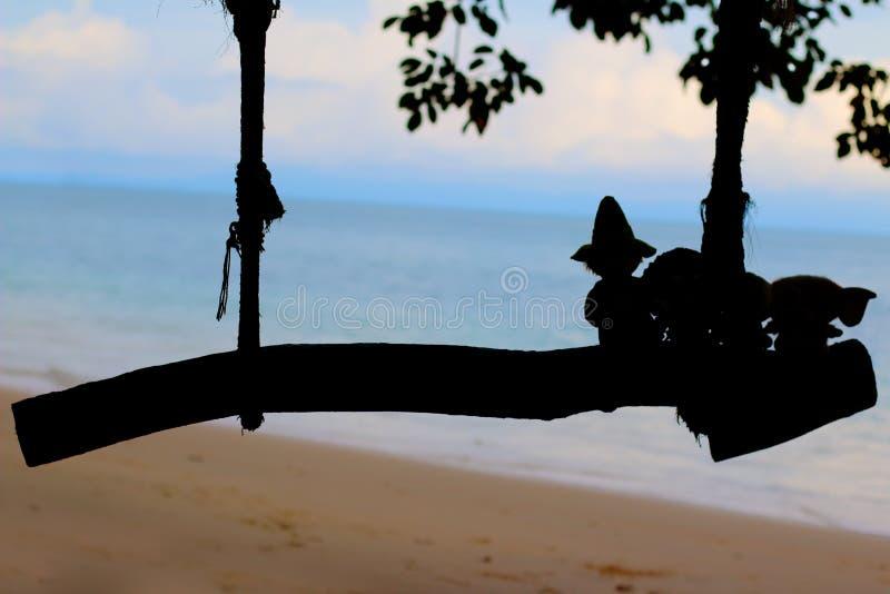 Plażowy zbieg zdjęcia royalty free