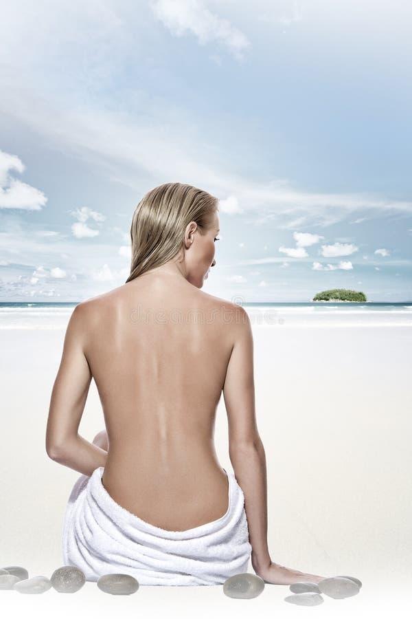 plażowy zdrój obraz royalty free