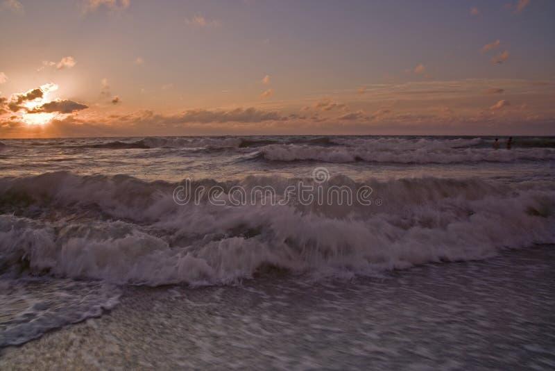 plażowy zmierzch zdjęcie stock