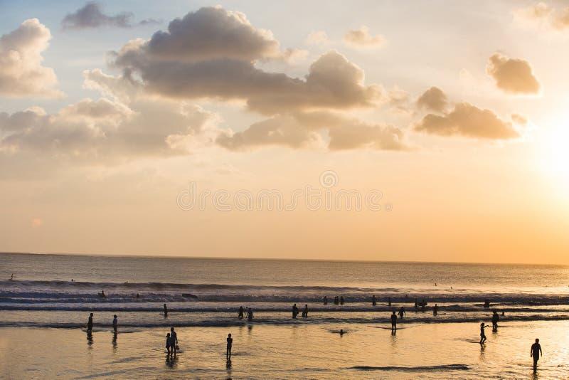 plaży bali kuta obraz stock