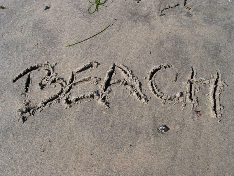 Download Plaża obraz stock. Obraz złożonej z lato, list, writing - 142935