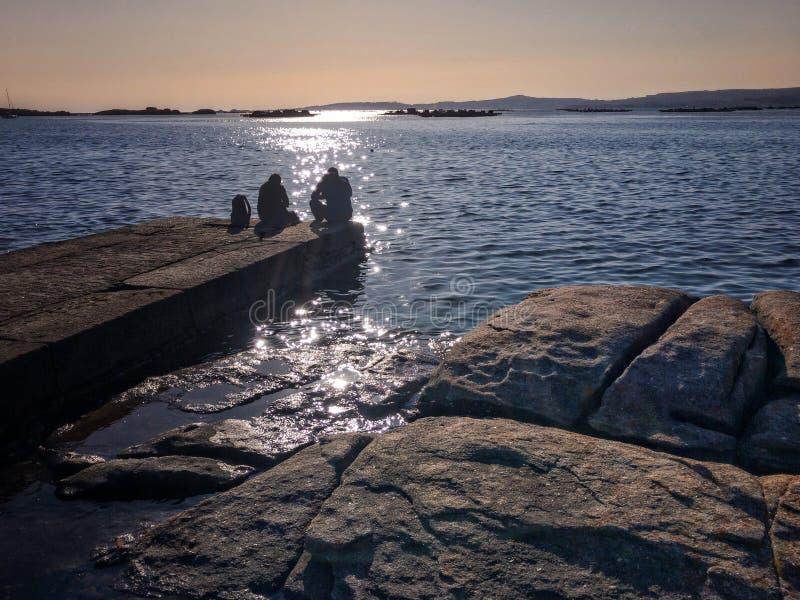 Pla?a i morze na Galicyjskim wybrze?u zdjęcie stock
