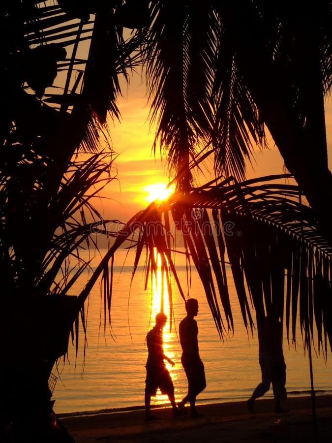 Plaża Nad Zmierzchem Thailand Zdjęcia Royalty Free