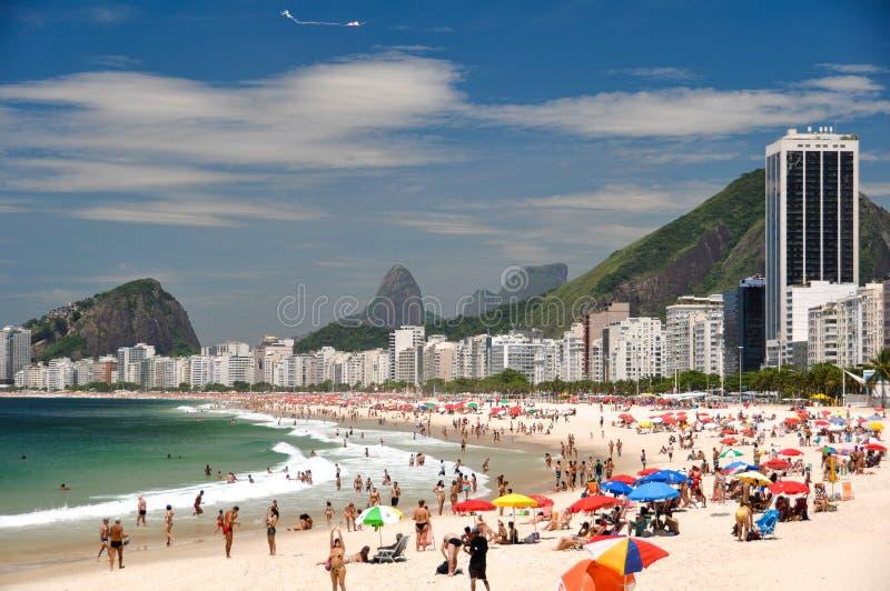 Download Plażowy Copacabana De Janeiro Rio Obraz Editorial - Obraz złożonej z natura, samba: 57673585