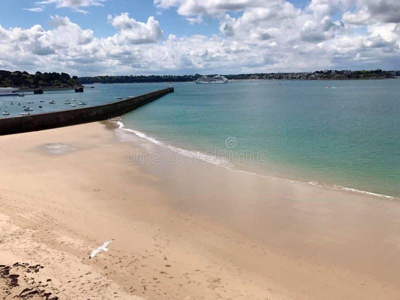 pla?owy footpath mola morze fotografia stock