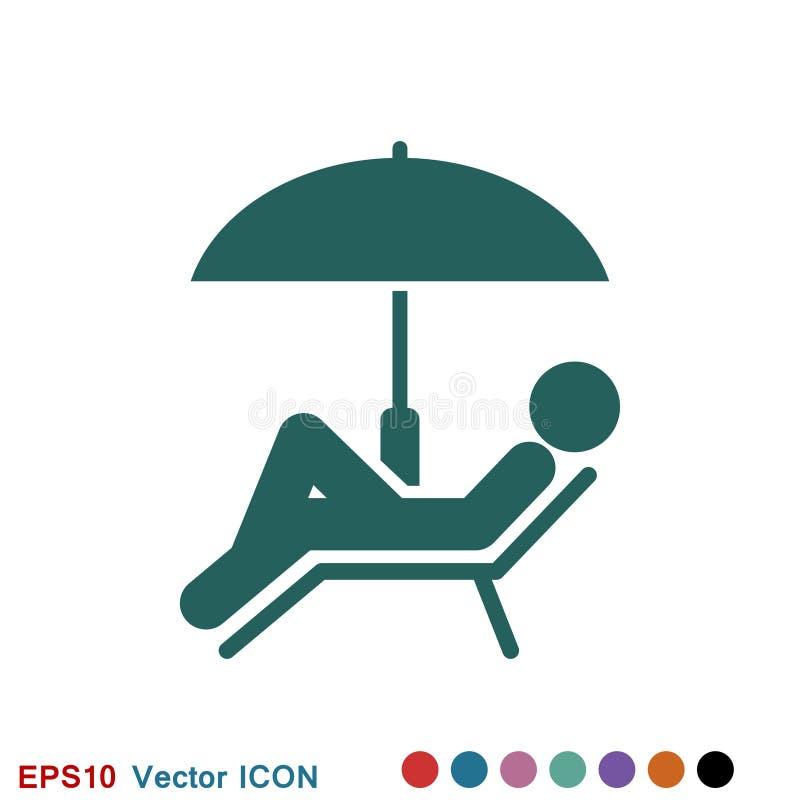 Pla?owy ikona wektor wakacje i turystyka, lato symbol ilustracji