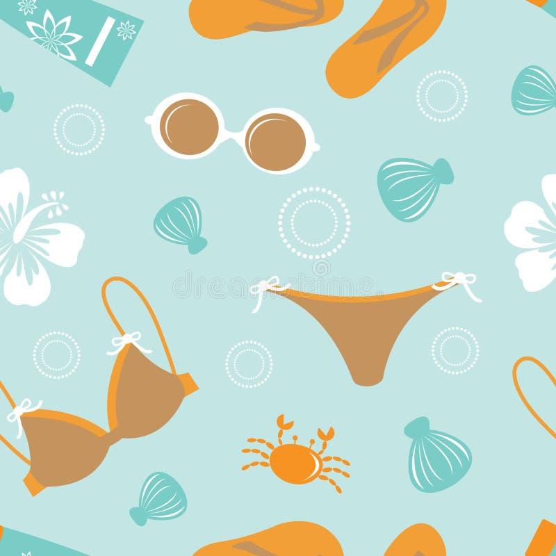 Download Plażowy wzór ilustracji. Ilustracja złożonej z kostium - 28957363