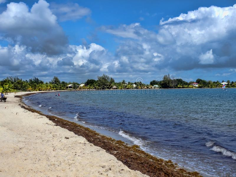 Pla?a w Placencia morzu karaibskim, Belize fotografia royalty free