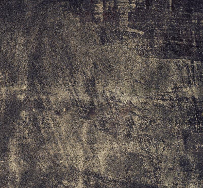 Plaat van het Grunge de oude zwarte metaal als achtergrondtextuur. Vierkant formaat. stock foto